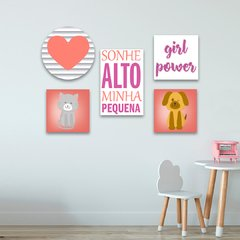 Kit 5 Placas Girl Power