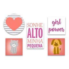 Kit 5 Placas Girl Power - comprar online
