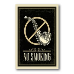 PLACA NO SMOKING - comprar online
