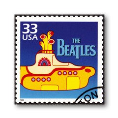 PLACA BEATLES 33 USA 20x20 cm - comprar online