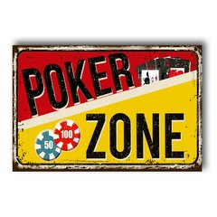 PLACA POKER ZONE