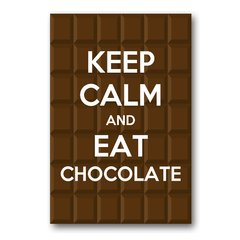 PLACA KEEP CALM AND EAT CHOCOLATE - comprar online
