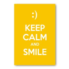 PLACA KEEP CALM AND SMILE - comprar online
