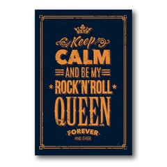 PLACA KEEP CALM AND ROCK 'N' ROLL - comprar online