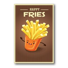 PLACA HAPPY FRIES - comprar online