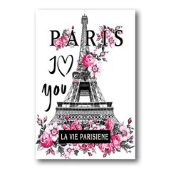 PLACA I LOVE PARIS - comprar online
