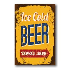 PLACA ICE COLD BEER - comprar online