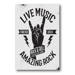 PLACA ROCK & ROLL - comprar online