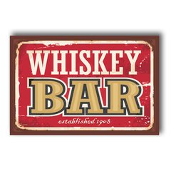 PLACA WHISKEY BAR - comprar online