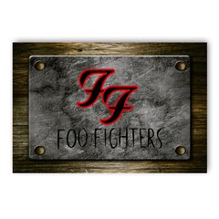 PLACA FOO FIGHTERS - comprar online