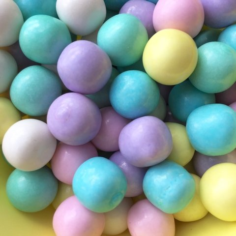 Chicle Bolita colores pasteles x 400 gr