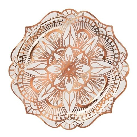 PLATOS MANDALA GOLD ROSE x 8