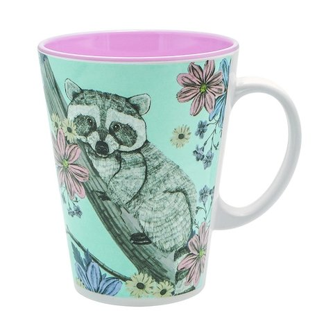TAZA SWEET JUNGLE CELESTE CON MAPUCHE