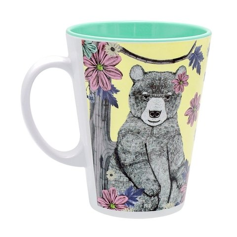 TAZA SWEET JUNGLE AMARILLA CON OSA ENAMORADA