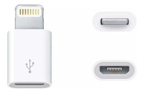 Ficha Adaptador De Micro Usb A Lighting Para Cargador