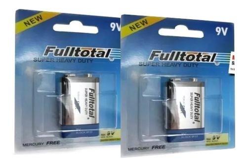 Baterias 9v Azul Carbon Full Total 2 Unidades