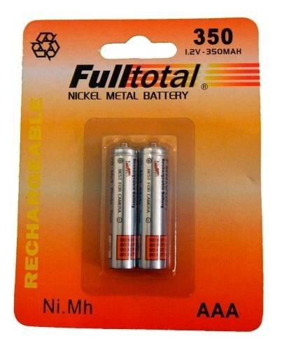 Pila Recargable Full Total Aaa 350mah X 20 Pilas