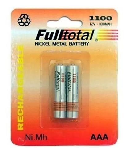 4 Pilas Recargables Full Total 1100 Mah Aaa Nimh Blister