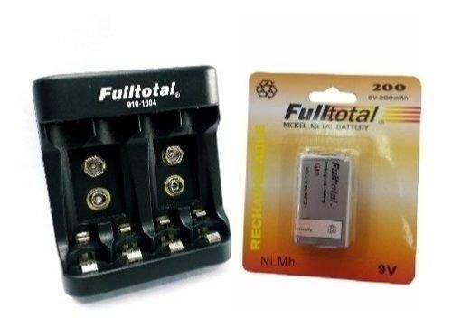 Cargador Pilas Usb Aa Aaaa 9v +1 Bateria 9v Fulltotal 200mah