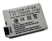 Bateria Para Canon T3i Lp-e8 7.2v Lpe8