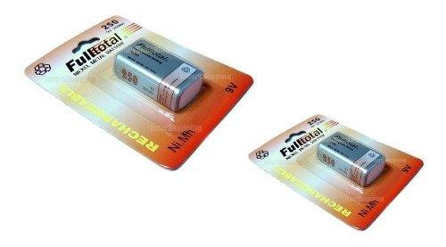 Dos Baterias Recargables 9v Full Total 250mah Niquel Metal