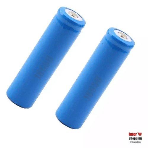 2 Pilas Baterias Recargables 18650 3.7v Para Linterna X 2und