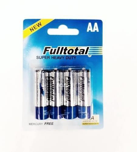 Pilas Full Total Zinc Carbon Aa Caja X48 Unidades