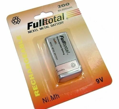 Bateria Recargable  9v   Full Total 200 Nimh