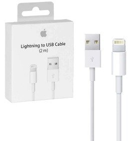Cable 2 Metros iPhone 5 6 7 8 X Plus Lightning caja sellada