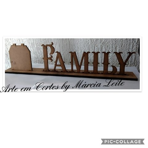 Placa decorativa Family