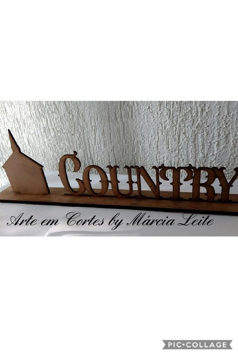 Placa decorativa Country