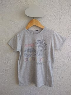 remera surf time gris