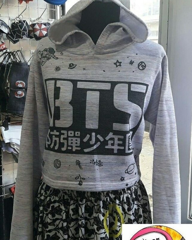 Buzo Little Hoodie BTS Space