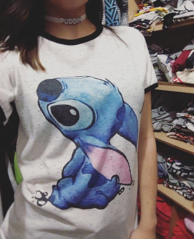 Remera Stitch Kawaii