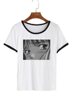 Remera Dama Ringer Anime Sad Eyes