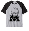 Remera Unisex Ranglan Boku No Hero Bakugo Black