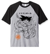 Remera Unisex Ranglan Dragon Ball Clásico 90