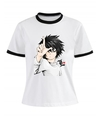 Remera Dama Ringer Death Note L Chibi