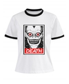 Remera Dama Ringer Death Note  Recuadro Death