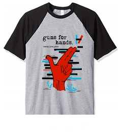Remera Unisex Ranglan Twenty One Pilots Guns for Hands