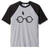 Remera Unisex Ranglan Harry Potter HP Lentes