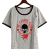 Remera Dama Ringer It Loser Club Skull