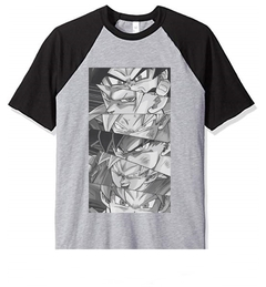 Remera Unisex Ranglan Dragon Ball Ojos