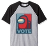 Remera Unisex Ranglan Among Us VOTE