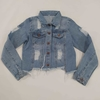 campera rigida Denim Blue con roturas