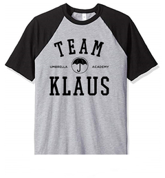 Remera Unisex Ranglan Umbrella Academy Team Klaus