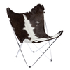 BUTTERFLY CHAIR · C H R O M E D · COWHIDE