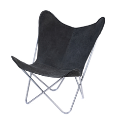 BUTTERFLY CHAIR · A S S A M B L E · BLACK