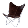BUTTERFLY CHAIR · A S S A M B L E · DARK LEATHER