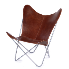 BUTTERFLY CHAIR · A S S A M B L E · BROWN LEATHER on internet